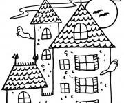 Coloriage Maisons 47