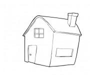 Coloriage Maisons 49