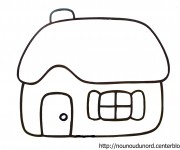 Coloriage Maisons 5