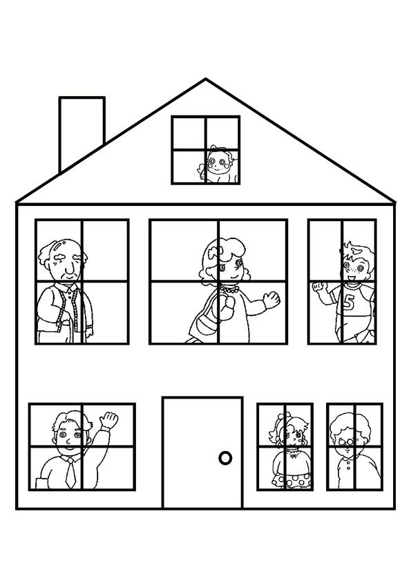 Coloriage et dessins gratuits Maisons 51 à imprimer
