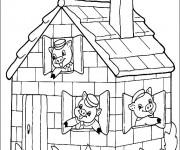 Coloriage Maisons 52