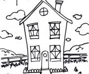 Coloriage Maisons 53
