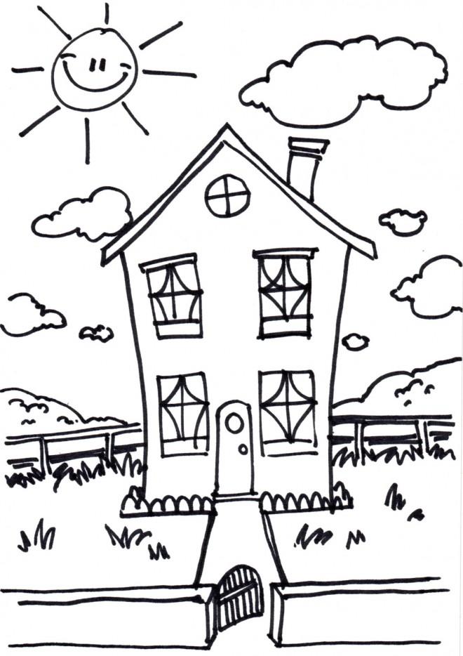 Coloriage Maisons 53 dessin gratuit à imprimer