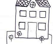 Coloriage Maisons 57