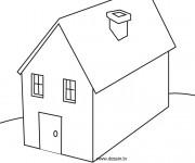Coloriage Maisons 7