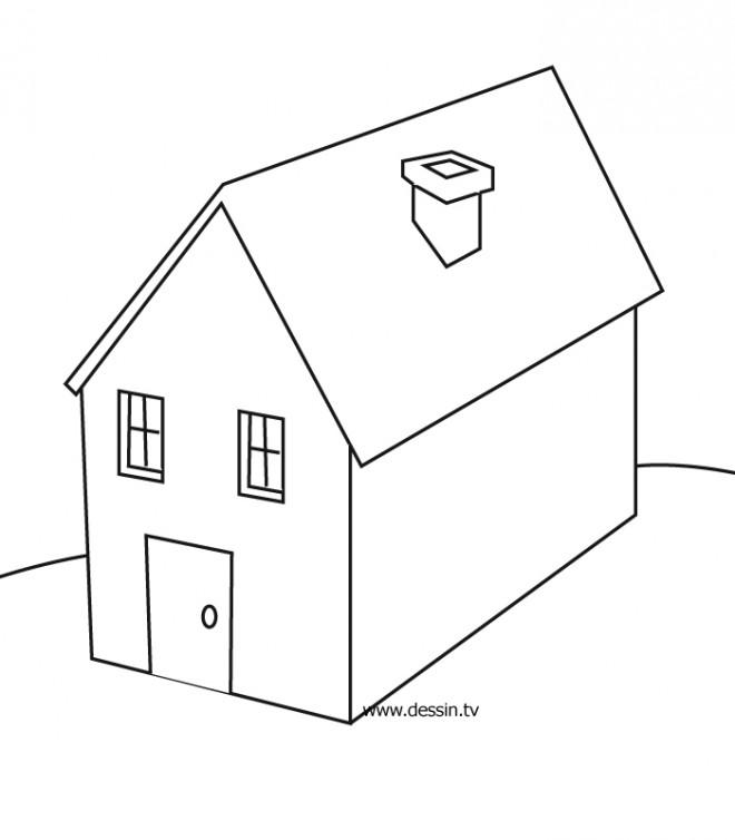 Coloriage et dessins gratuits Maisons 7 à imprimer