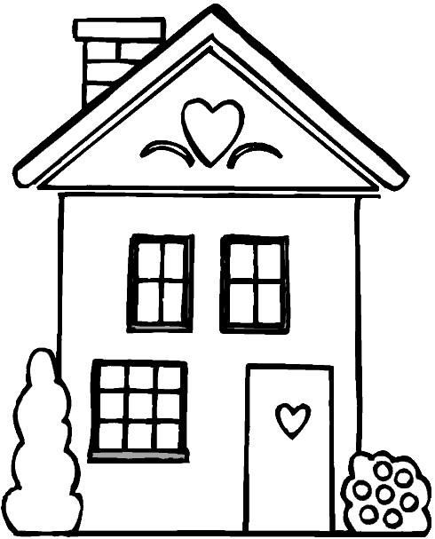 Coloriage et dessins gratuits Maisons 8 à imprimer