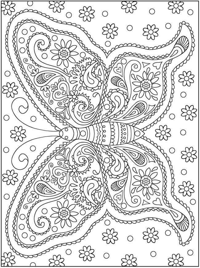 hard cat design coloring pages - photo#5