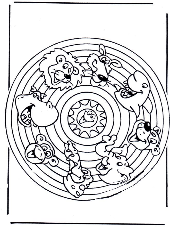 Coloriage Mandala Animaux Pour Enfant Dessin Gratuit à Imprimer