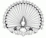 Coloriage Mandala Animaux 1