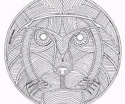 Coloriage Mandala Animaux 12
