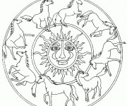 Coloriage Mandala Animaux 16