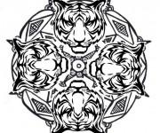 Coloriage Mandala Animaux 17