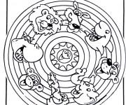 Coloriage Mandala Animaux 18