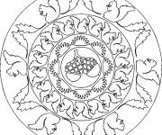 Coloriage et dessins gratuit Mandala Écureuil à imprimer