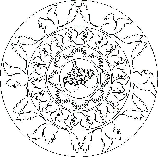 Coloriage et dessins gratuits Mandala Écureuil à imprimer
