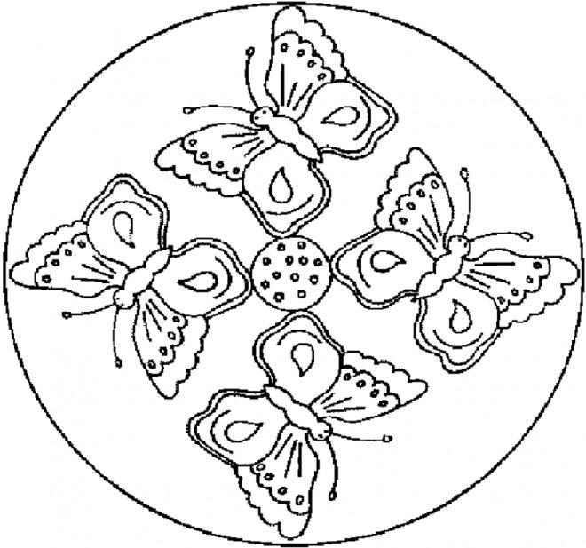 Coloriage mandala papillons dessin gratuit imprimer - Dessins de mandala ...