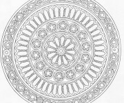 Coloriage et dessins gratuit Adulte Mandala à télécharger à imprimer