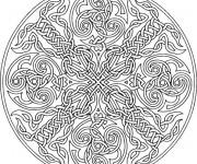 Coloriage et dessins gratuit Adulte Mandala destressant à imprimer