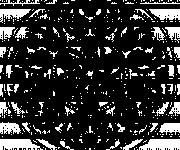 Coloriage et dessins gratuit Adulte Mandala en noir à imprimer