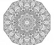 Coloriage et dessins gratuit Adulte Mandala fleuri à imprimer