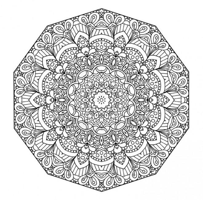 Coloriage et dessins gratuits Adulte Mandala fleuri à imprimer