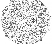 Coloriage et dessins gratuit Adulte Mandala stylisé à imprimer
