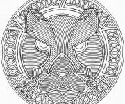 Coloriage et dessins gratuit Adulte Tigre Difficile à imprimer