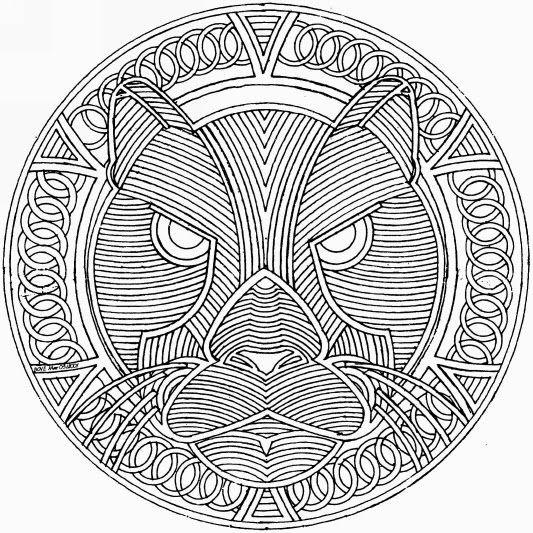 Coloriage et dessins gratuits Adulte Tigre Difficile à imprimer