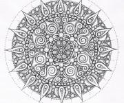 Coloriage et dessins gratuit Image Difficile pour adulte à imprimer