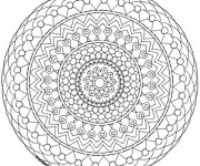Coloriage et dessins gratuit Mandala Adulte  à colorier à imprimer