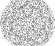 Coloriage et dessins gratuit Mandala artistique à décorer à imprimer