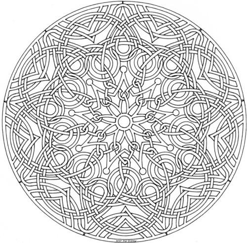Coloriage et dessins gratuits Mandala artistique à décorer à imprimer
