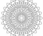 Coloriage et dessins gratuit Mandala complexe à découper à imprimer