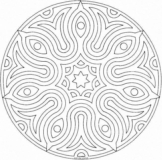 Coloriage et dessins gratuits Mandala dessinépour adulte à imprimer