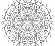 Coloriage Mandala Difficile à découper