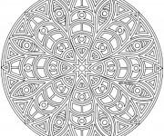 Coloriage et dessins gratuit Mandala Difficile à faire à imprimer