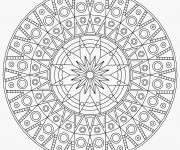 Coloriage Mandala Difficile angulaire
