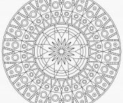 Coloriage et dessins gratuit Mandala Difficile angulaire à imprimer
