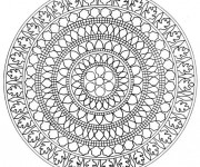 Coloriage Mandala Difficile asiatique