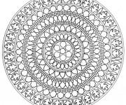 Coloriage et dessins gratuit Mandala Difficile asiatique à imprimer