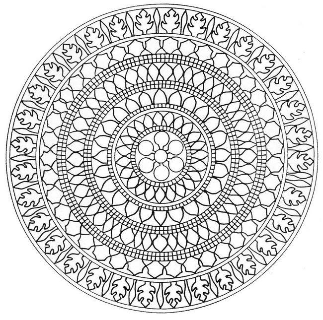 Coloriage Mandala Difficile A Imprimer.Coloriage Mandala Difficile Asiatique Dessin Gratuit A Imprimer