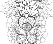 Coloriage et dessins gratuit Mandala Difficile Feu à imprimer