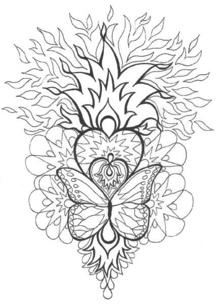 Coloriage et dessins gratuits Mandala Difficile Feu à imprimer