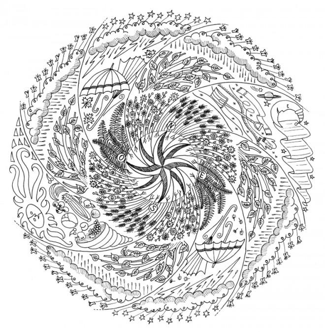 Coloriage et dessins gratuits Mandala Difficile hiver à imprimer