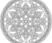 Coloriage Mandala Difficile orientale