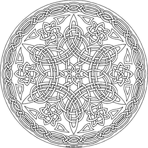 Coloriage Mandala Difficile Orientale Dessin Gratuit A Imprimer