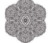 Coloriage et dessins gratuit Mandala Difficile vecteur à imprimer