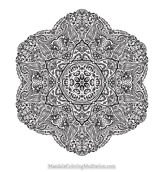Coloriage mandala difficile vecteur dessin gratuit imprimer - Mandala a imprimer gratuit difficile ...