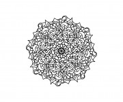 Coloriage et dessins gratuit Mandala Marguerite à imprimer
